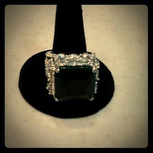 Huge Emerald Vintage Ring